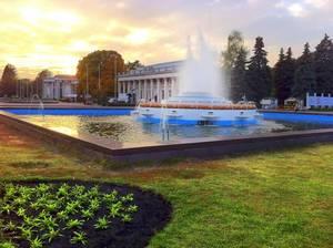 Die Ausstellung der Wirtschaftlichen Erfolge. Kiew Stadt