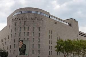 """Die Außenfassade vom Kaufhaus """"El Corte Ingles"""" in Barcelona, Spanien, nahe des Placa Catalunya"""