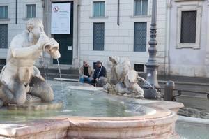 Die Fontana del Moro in Rom, Italien