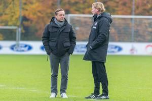 Die neue Hoffnung beim FC - Horst Heldt und Markus Gisdol nehmen die Arbeit auf