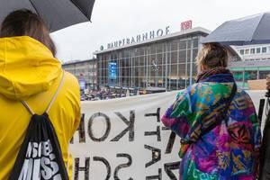 Die Umweltschutzdemonstration Fridays For Future in Köln von oben