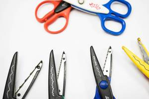 Different shape cutting scissor blades