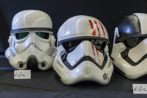 Different Storm Trooper helmets