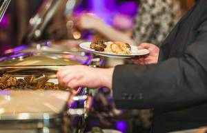 Dinner Pork Meat And Chicken Dish In Hotel (Flip 2019)