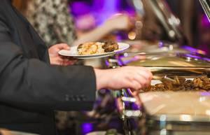 Dinner Pork Meat And Chicken Dish In Hotel