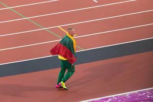 Diskuswerfer Andrius Gudzius bei den IAAF Leichtathletik-Weltmeisterschaften 2017 in London