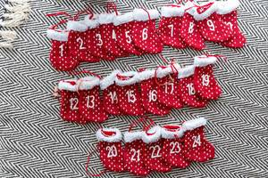 DIY Christmas Advent Calendar with Numbered Socks