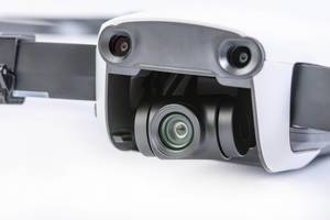 DJI Mavic Air drone camera gimbal closeup