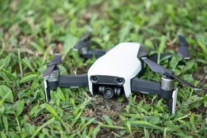 DJI Mavic Air drone on the soil ground (Flip 2019)