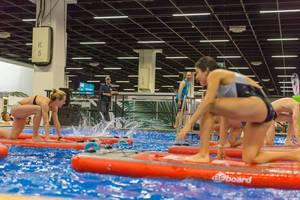 Doing exercises on a BEboard - FIBO Cologne 2018
