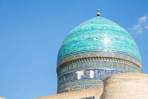 Dome of a madrasah, Bukhara Uzbekistan. Unesco World Heritage.