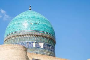 Dome of a madrasah, Bukhara Uzbekistan. Unesco World Heritage. (Flip 2019)