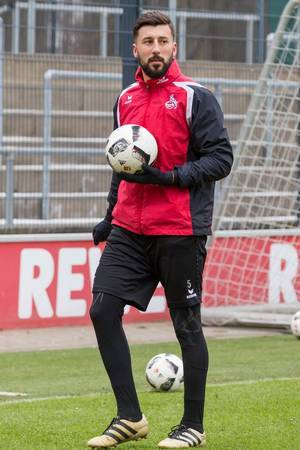 Dominic Maroh nach dem Training