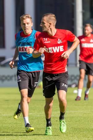 Dominick Drexler und Niklas Hauptmann beim Training am 12.09.2018