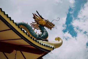 Dragon statue design in a Chinese temple (Flip 2019)