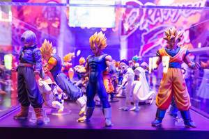 Dragonball Fighter Z Actionfiguren - Gamescom 2017, Köln