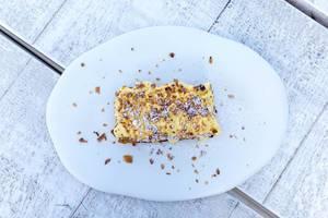 Draufsicht von Millefeuille Kuchen