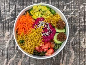 Draufsicht von Rainbow Bowl