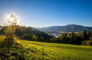 Drava valley in Slovenia