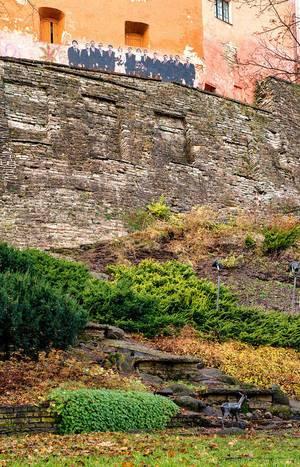 Drawn people looking over garden / Gezeichnet Menschen über Garten suchen