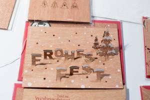 Dreidimensionale Grußkarte zu Weihnachten von formes Berlin