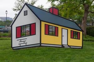 Dreidimensionale optische Täuschung Haus-Attrappe, USA