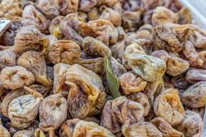 Dried figs on marketplace