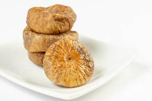 Dried Figs with white background