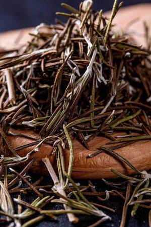 Dried herb of rosemary