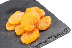 Dried Peaches on the black stone tray (Flip 2019)