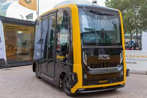 Driverless Mobility: electric autonomous vehicle EasyMile in collaboration with Continental