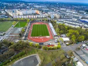 Drohnenaufnahme des Südstadions in Köln