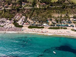 Drohnenfoto des Campingplatzes Camping Paliouri