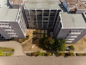 Drohnenfoto vom Firmengebäude der QSC AG in Köln