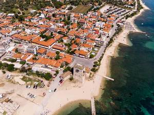 Drone photo of Ouranoupoli, Greece