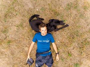 Drone Selfie with Dog
