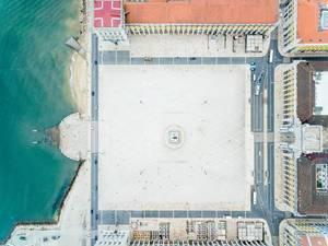 Drone Shot of Praça do Comércio