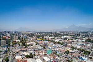 Drone View to the City of Guatemala