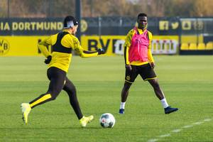 Duel of youth players in the break of national teams at Borussia Dortmund training