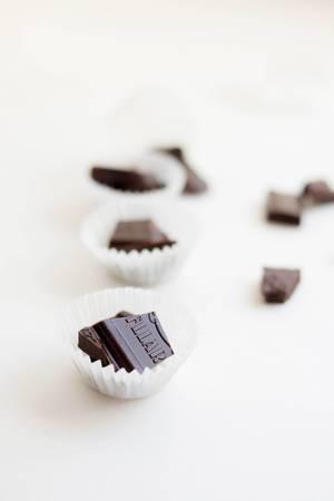 Dunkle Schokoladenpralinen