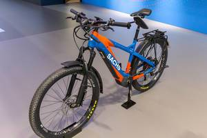 E-Bicycle with electric motor. Sachs RS 925 with ABS and integrated Driveline-System