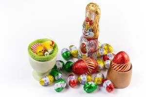 Easter Chocolate Eggs with Bunny