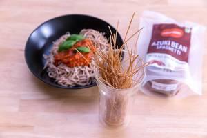 Edama Bio-Spaghetti mit Verpackung und ungekochtem Muster