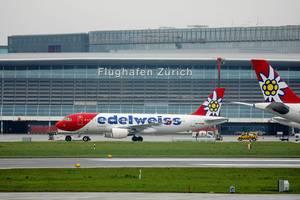 Edelweiss Air Airbus A320 (HB-IHX) Flugzeug im Flughafen Zürich