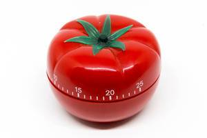 Egg timer in tomato shape for Pomodoro Technique