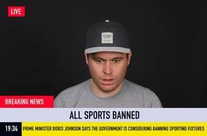 Eilmeldung: Britischer Premierminister Boris Johnson sagt, die Regierung bedenkt, alle Sportveranstaltungen abzusagen