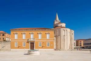Ein antikes römisches Forum in Zadar, Kroatien
