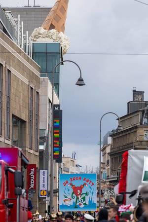 Ein Blick auf das Defilee - Kölner Karneval 2018