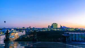 Ein Foto von Berlin zu blauer Stunde