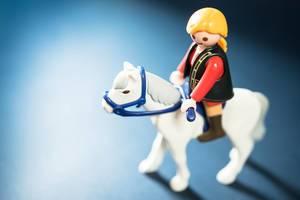 Ein Pferd reiten